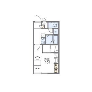 1K Apartment in Maruyamadai - Yokohama-shi Konan-ku Floorplan