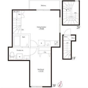1LDK Mansion in Higashikoiwa - Edogawa-ku Floorplan