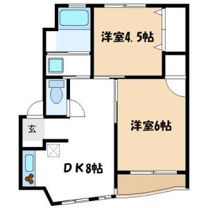 横浜市青葉区桜台-2DK公寓大厦 楼层布局