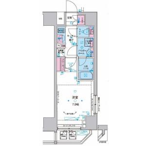 1K Mansion in Mita - Minato-ku Floorplan