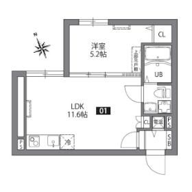1LDK Mansion in Higashioi - Shinagawa-ku Floorplan