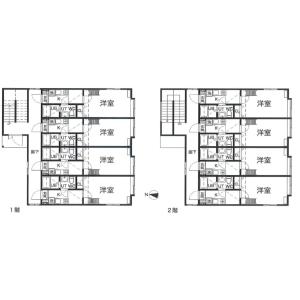 Whole Building {building type} in Kita26-johigashi - Sapporo-shi Higashi-ku Floorplan