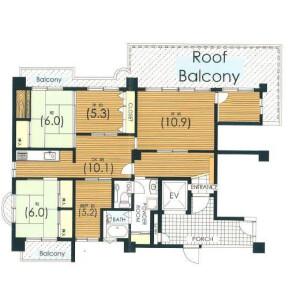 5SLDK Apartment in Daimyo - Fukuoka-shi Chuo-ku Floorplan