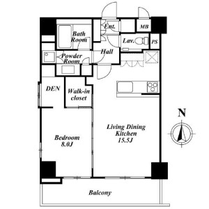 1SLDK Mansion in Hiroo - Shibuya-ku Floorplan