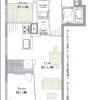 2LDK Apartment to Buy in Shinjuku-ku Floorplan