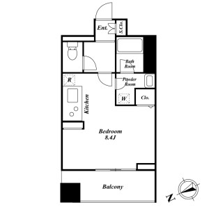 1R Mansion in Uchikanda - Chiyoda-ku Floorplan