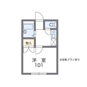 1K Apartment in Nishisunacho - Tachikawa-shi Floorplan