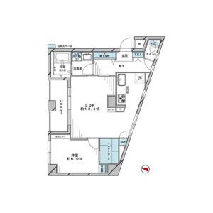1LDK {building type} in Ebisu - Shibuya-ku Floorplan