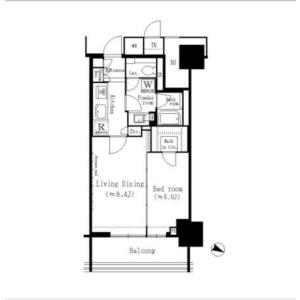 1LDK Mansion in Kitasaiwai - Yokohama-shi Nishi-ku Floorplan