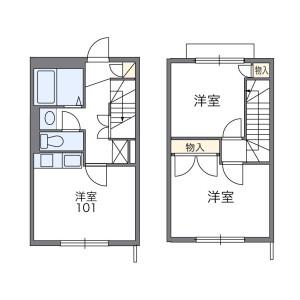 2DK Apartment in Ontacho - Higashimurayama-shi Floorplan