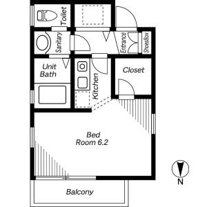 1K Apartment in Wada - Suginami-ku Floorplan