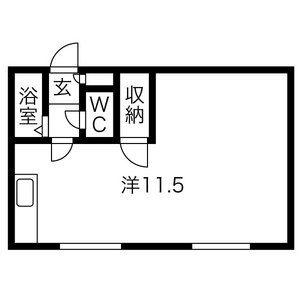 1R Mansion in Sumikawa 5-jo - Sapporo-shi Minami-ku Floorplan