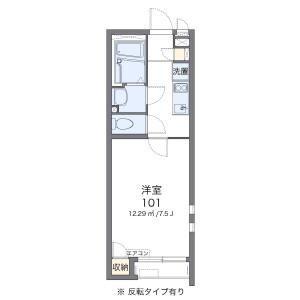 1K Apartment in Miyado - Asaka-shi Floorplan