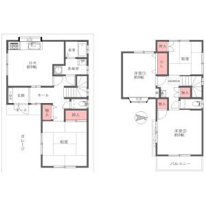 4DK {building type} in Kisabe(chome) - Katano-shi Floorplan