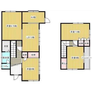 4LDK House in Kimagase - Noda-shi Floorplan
