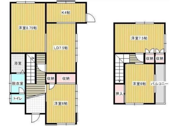 4LDK House to Rent in Noda-shi Floorplan
