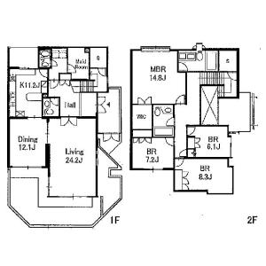 4LDK House in Komaba - Meguro-ku Floorplan